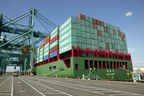 In 2018 the ports of VA handled 1,612,886 containers